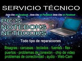 REPARACION - NOTEBOOKS - PC - NETBOOKS