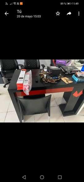 Remato escritorio mdf grueso negro