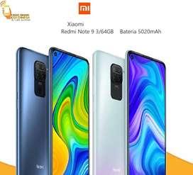 Xiaomi Redmi Note 9 64GB Cuatro Cámaras 48MP Bateria 5020mAh Con garantía Nuevo y Original TIENDA FISICA