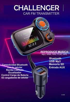 Transmisor Fm CHALLENGER, Kit de coche Bluetooth inalámbrico de Bluetooth Mp3