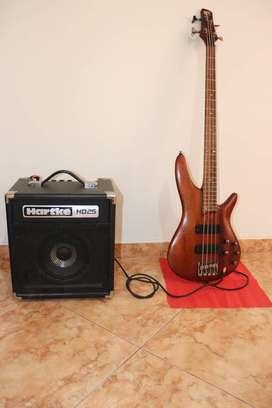 Bajo Ibanez Sr500 + Amplificador Hartke Hd 25 Watts