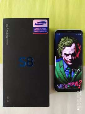 SAMSUNG S8 DUAL SIM - FISURADO / FUNCIONAL 100% - CAJA Y FACTURA - VENDO CAMBIO (KENNEDY)