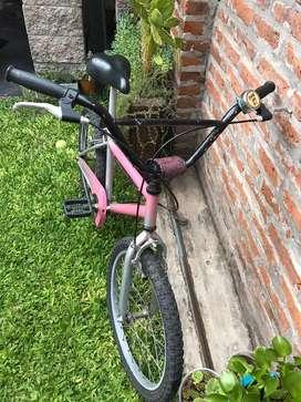 Bicicleta Urbana Rosa Rodado 20 Infantil