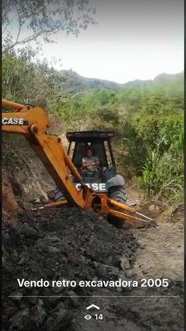 Retro excavadora case vendo o permuto por materiales de construccion