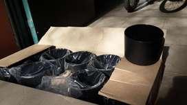 Caja x10 Macetas 18cmx 12cm color Negra
