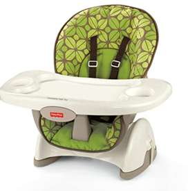Fisher-Price SpaceSaver High Chair, Green - Usado