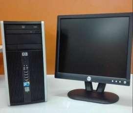 computadora de escritorio Core 2 duo con memoria ddr3 2 gigas disco 300 gb