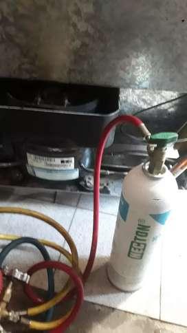 Cargas de gas heladeras familiares y freezers