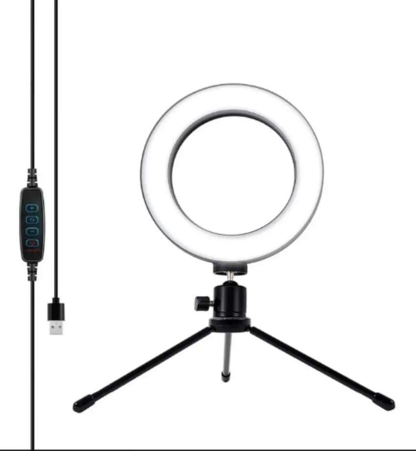 Aro Luz Led Selfie 3 Luces 16 cm + Tripode Profesional 0