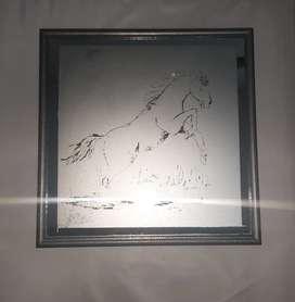 Cuadro decorativo en vidrio