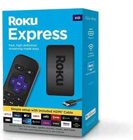 Roku Express   Reproductor multimedia de transmisión HD con cable HDMI de alta velocidad y control remoto simple
