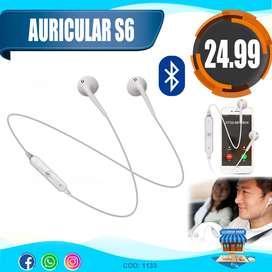 Auricular S6 Con Bluetooth