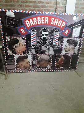 Venta de gigantografia para barberia
