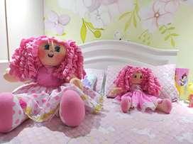 Muñecas de trapo de tela