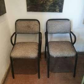 2 sillas retapizadas deco