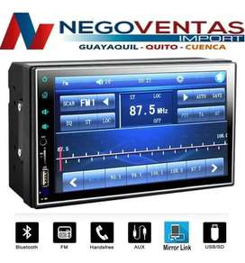 RADIO PANTALLA DOBLE DIN MP5 FULL TOUCH BLUETOOTH USB SD AUX FM