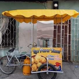 Triciclo para negocio  pan de yuca con cilindro de gas lleno
