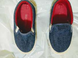 Zapatillas botanguita mocasín 25 azul planchita como nueva  plantilla 16'5