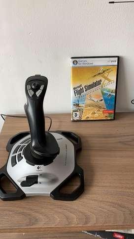 Simulador de vuelo joystick