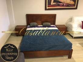 Cama Y Mesas de Noche Casablanca Muebles Tunja