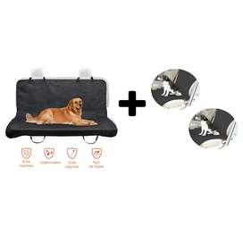 Combo 3 Forros Sillas Carro Perro Protectores Auto Mascota