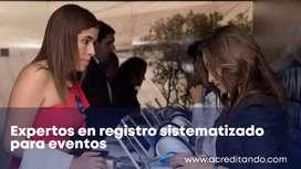 Registro y/o acreditación Sistematizado para Eventos