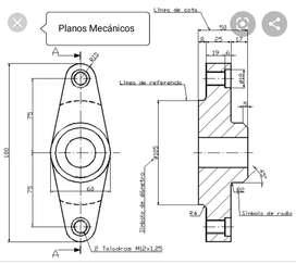 Dibujante técnico Cadista. Diseño mecánico, planos en AutoCAD, digitalización de planos, de papel a archivos AutoCAD