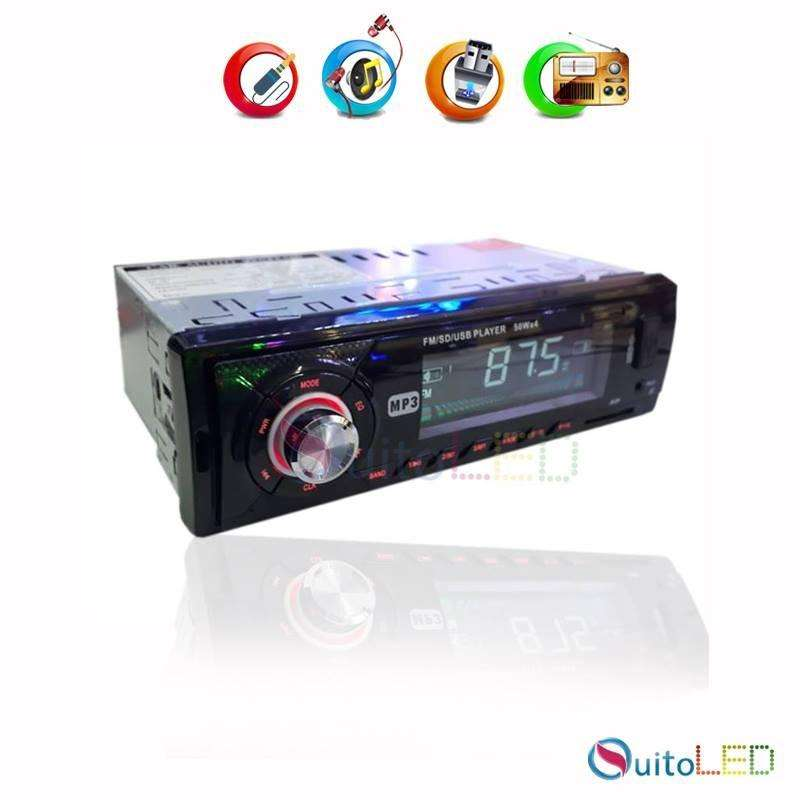 Radio Mp3 Usb, Micro Sd, Aux, Bluetooth para carros Quitoled 0