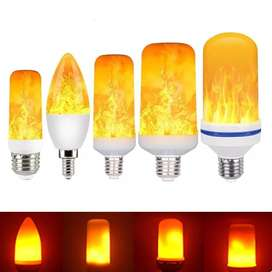 Foco Led Llama Amarilla E27 9W