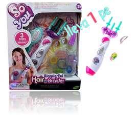 Trenzador de cabello para niñas con accesorios