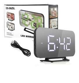 Reloj Mirror Despertador Digital Pantalla Grande Espejo