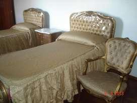 Vendo Juego de dormitorio completo en Capitoné Francés