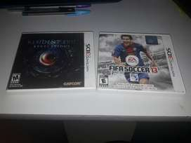 Juegos 3ds - Resident Evil - Fifa 13
