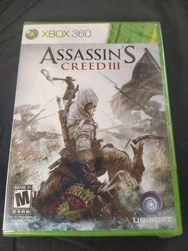 Nuevo sellado Assassin's Creed 3 Xbox 360 Y Xbox One