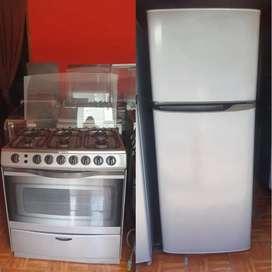 Combo cocina y refrigerador