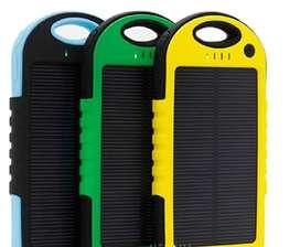 Power bank cargador batería externa panel solar 5000 mah