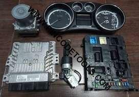 Set Completo de Inyeccion de Peugeot 308 1.6 HDI - ECU Continental SID807EVO - BSI - ABS - Instrumental - Llave