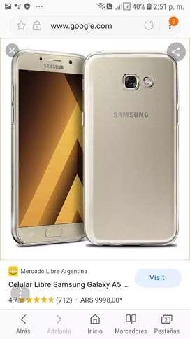 Se vende  celular sansun a5 como nuebo