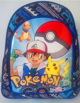 Mochila niño Pokemon, Dragon ball, Minions