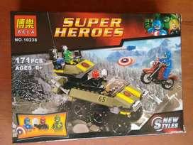 Super heroes piezas para armar ladrillos