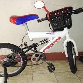 Bicicleta blanca spiderman