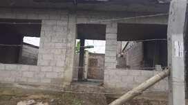 Solar en Santo domingo con casa en construccion con proyecto para segundo piso