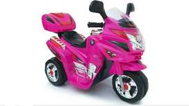 Moto Carro Recargable Electrica Niña Fucsia