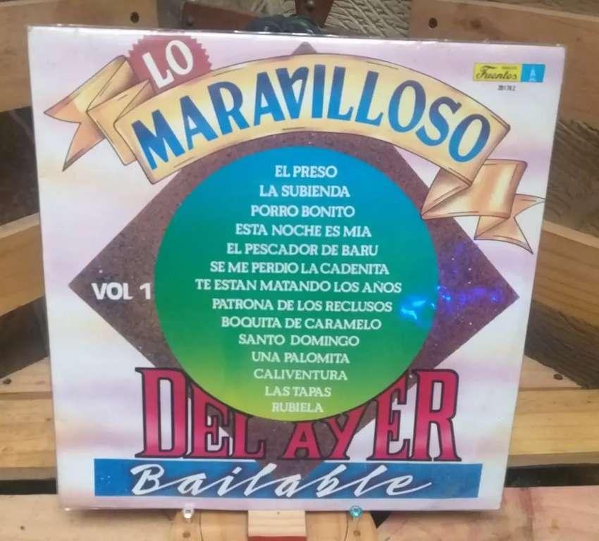 Vinilo Long Play Lp Dísco Acetato Pasta Vinyl Lo Maravilloso Del Ayer Bailable Volumen I