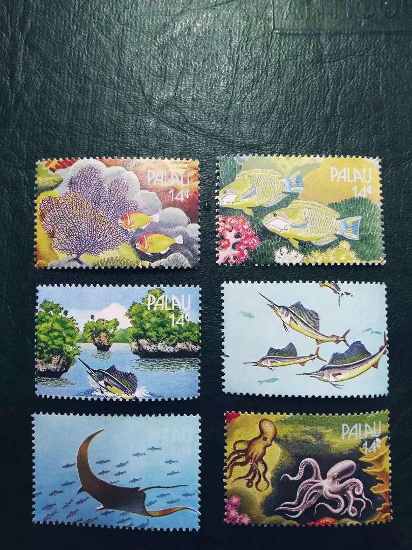 Vendo colección especial estampillas islas palao 0