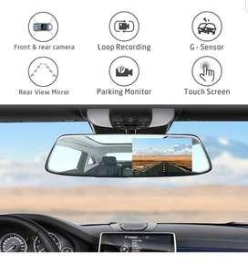 Doble Camara Espejo Retrovisor Tactil Para Carro