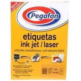 ETIQUEATAS BLANCA AUTOADHESIVAS INK JET/LASER
