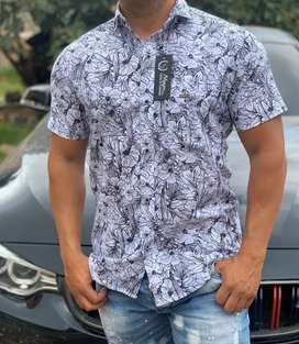 Camisa manga larga y manga Corta en popelina licrada segunda mano  Arizona