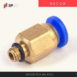 Racor PC4 M6 conector tubo de teflon para impresora 3D