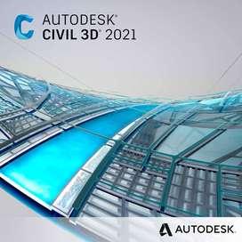 Instalación Autodesk AutoCAD Civil 3d 2020-2021 Windows